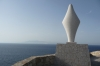 Statue of Virgin Mary looking towards Corsica, Santa Teresa