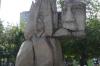 Sculpture in Plaza de Armas, Santiago CL