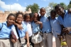 School children loved to have their photos taken at the Parque Independencia, Santo Domingo