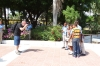 School children loved to have their photos taken at the Parque Independencia, Santo Domingo DO
