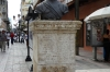 Statue to remember the first governor Bartholomew Columbus, in the Americas, Sant Domingo