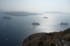Cruise boats below Thira