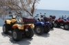 Quad bikes are a poular form of transport on Santorini