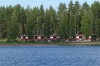View from the Lakeside swimming pool on Puruvesi Lake near Kerimäki FI
