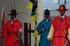 Colourful guards outside Gwanghwamun Gate, Gyeongbokgung Palace, Seoul