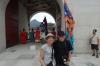 Bruce & Thea outside Gwanghwamun Gate, Gyeongbokgung Palace, Seoul