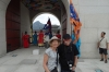 Bruce & Thea outside Gwanghwamun Gate, Gyeongbokgung Palace, Seoul KR