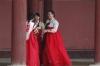 Girls giggling, Gyeongbokgung Palace, Seoul KR