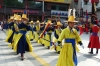 Colourful changing of the guard ceremony in front of Deoksugung Palace, Seoul KR