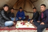 Lamb feast. On the road from Samarkand to Bukhara