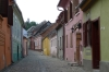 Coloured houses on Tamplarilor Street (north), Sighisoara RO