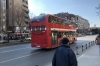 Old retired London buses run in Skopje MK