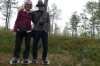 Bruce & Thea in bog shoes, Wilderness Trip in Soomaa National Park EE