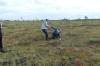 Lisa got bogged. Wilderness Trip in Soomaa National Park EE