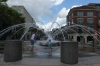 Fountain at north entrance of Waterfront Park, Charleston SC USA