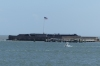 Approaching Fort Sumter, Charleston Harbor SC USA