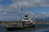 St Christopher tugboat, grounded in 1957, Ushuaia AR