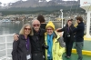 Janine & Alex Mifsud and Thea. Leaving Ushuaia on the Beagle Channel AR