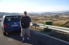 Bruce and our VW Tourag, in the lower Pyranees. ES