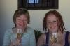 Thea & Elisse enjoy some more Spanish wine at Covarrubias, near Lerma. ES