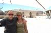 Bruce & Thea in the bull ring (town centre) of Pedruza de la Sierra. ES