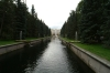 Gardens at Peterhof Palace, Peter the Great's summer residence on the Gulf of Finland. St Petersburg RU