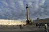 General Staff Building (opposite Hermitage Museum) and Alexander Column from Dvortsovaya Place. St Petersburg RU