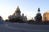 St Isaac's Cathedral, Peter the Great statue and on the right our accommodation - Hotel Astoria.  St Petersburg RU
