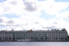 Hermitage Museum on the River Neva.  ...and amazing sky. St Petersburg RU