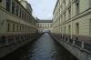 Hermitage museum and the canal running to the Neva River. St Petersburg RU