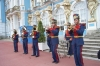 "Always musicians, always ready to play, these at the Catherine Palace.  Our guide simply said ""Australia"" and they played ""Advance Australia Fair"" - sounds good so far from home. St Petersburg RU"
