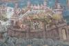 """Siege of Constantinople"", Moldovita Monastery dedicated to the Annunciation, Vatra Moldovitei, 16thC, blues & yellows"