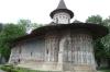 Voronet Monastery, Gura Humorului, dedicated to St George the Martyr, 15th-16thC, blue & metallic gold tones
