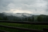 Rain comes and goes in the mountains between Sucevita & Vatra Moldovitei