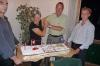 Birthday cake at Denis's 60th birthday celebration at Toucan, Arnex sur Orbe