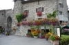 Entrance to Yvoire, ancient village on south (French) side of Lac Léman, famous for its flowers