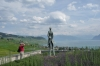 monument to Hugo Pratt, an Italian comic book creator who died in Grandvaux, on Lac Leman CH