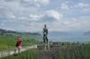 monument to Hugo Pratt, an Italian comic book creator who died in Grandvaux, on Lac Leman CH