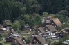 Shirakawago Ogi-machi grasshô style Village from the Ogimachi Josaki (observatory), Japan