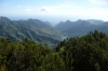 View towards Santa Cruz from Llano de los Loros (park of senses) in Parque Rural Anaga, Tenerife ES