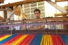 Colourful weaving at the Cactus farm