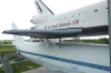 Space Shuttle 'Independence' and support Boeing 747. Space Centre Museum Houston TX USA