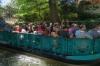 Tourist barges on the San Antonio River TX