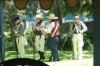 Demonstration of firing muskets at The Alamo, San Antonio TX