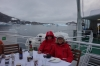 Barbeque dinner on the aft deck of MS Explorer, Port Charcot, Antarctica