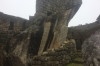 Condor temple. A wet day in Machu Picchu PE
