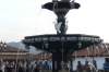 The fountain to the indigenous history of Cusco in Plaza de Armas (Armoury), Cusco PE
