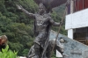 Inca statue in Aquas Calientes PE
