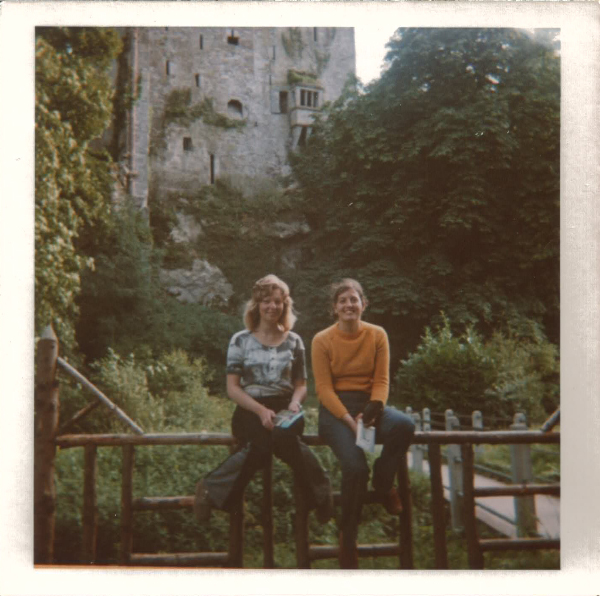 Chris and Thea outside Blanney Castle, Co Cork, Ireland
