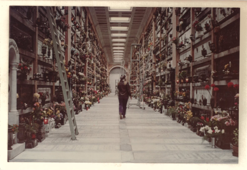 Inside one of the galleries of the cemetery of Staglieno, Genova, Itlay